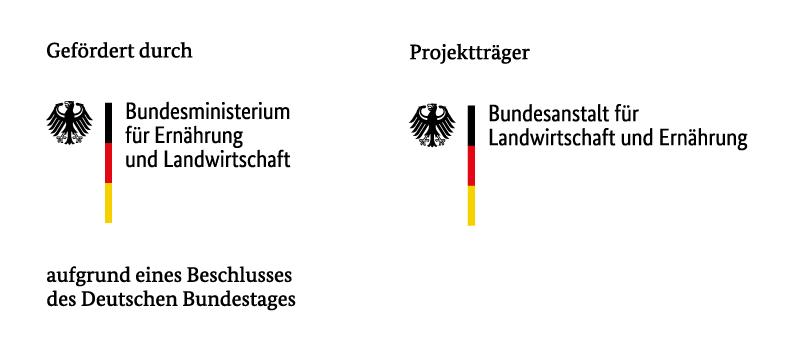Kombilogo BMEL mit Förderzusatz und Projektträger BLE - deutsch
